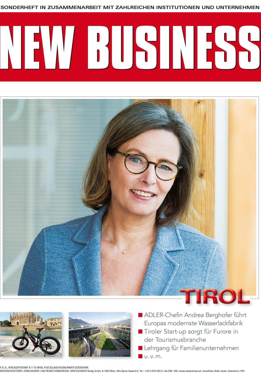 Cover: NEW BUSINESS Bundeslandspecial - TIROL 2017