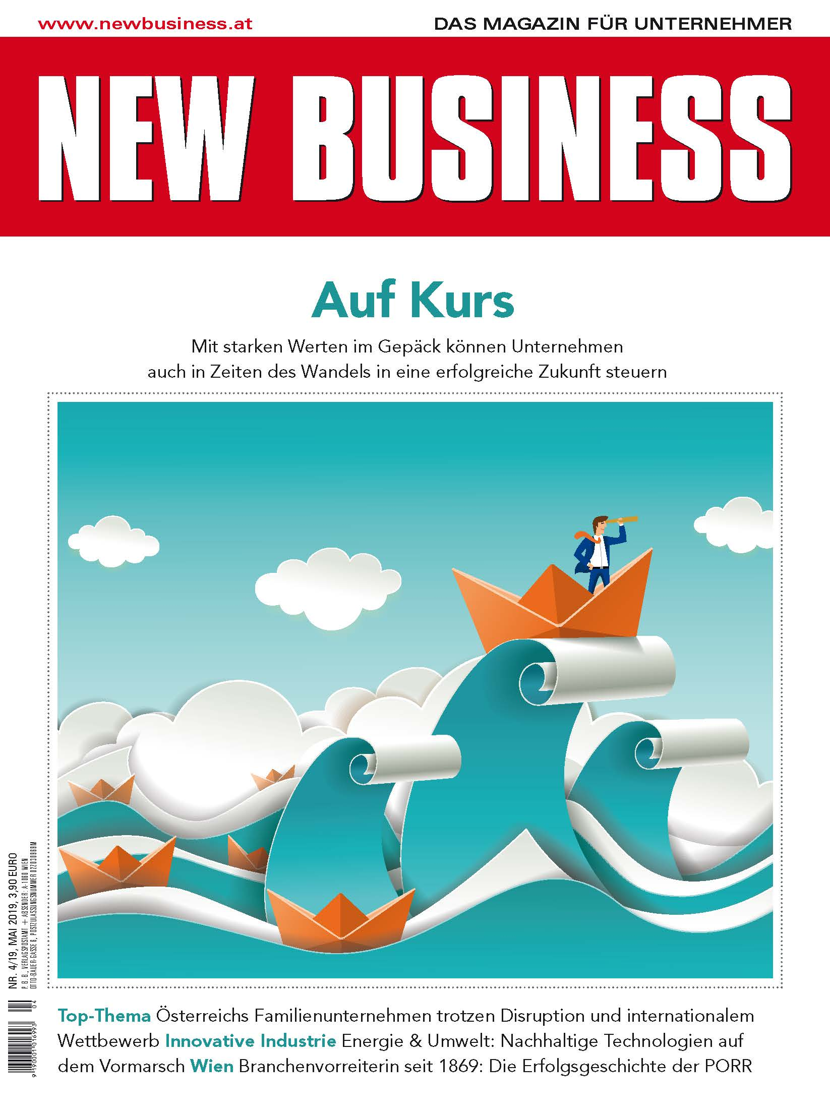 Cover: NEW BUSINESS - NR. 4, MAI 2019