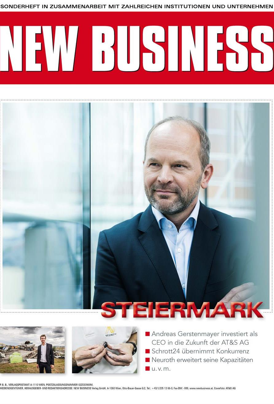 Cover: NEW BUSINESS Bundeslandspecial - STEIERMARK 2019