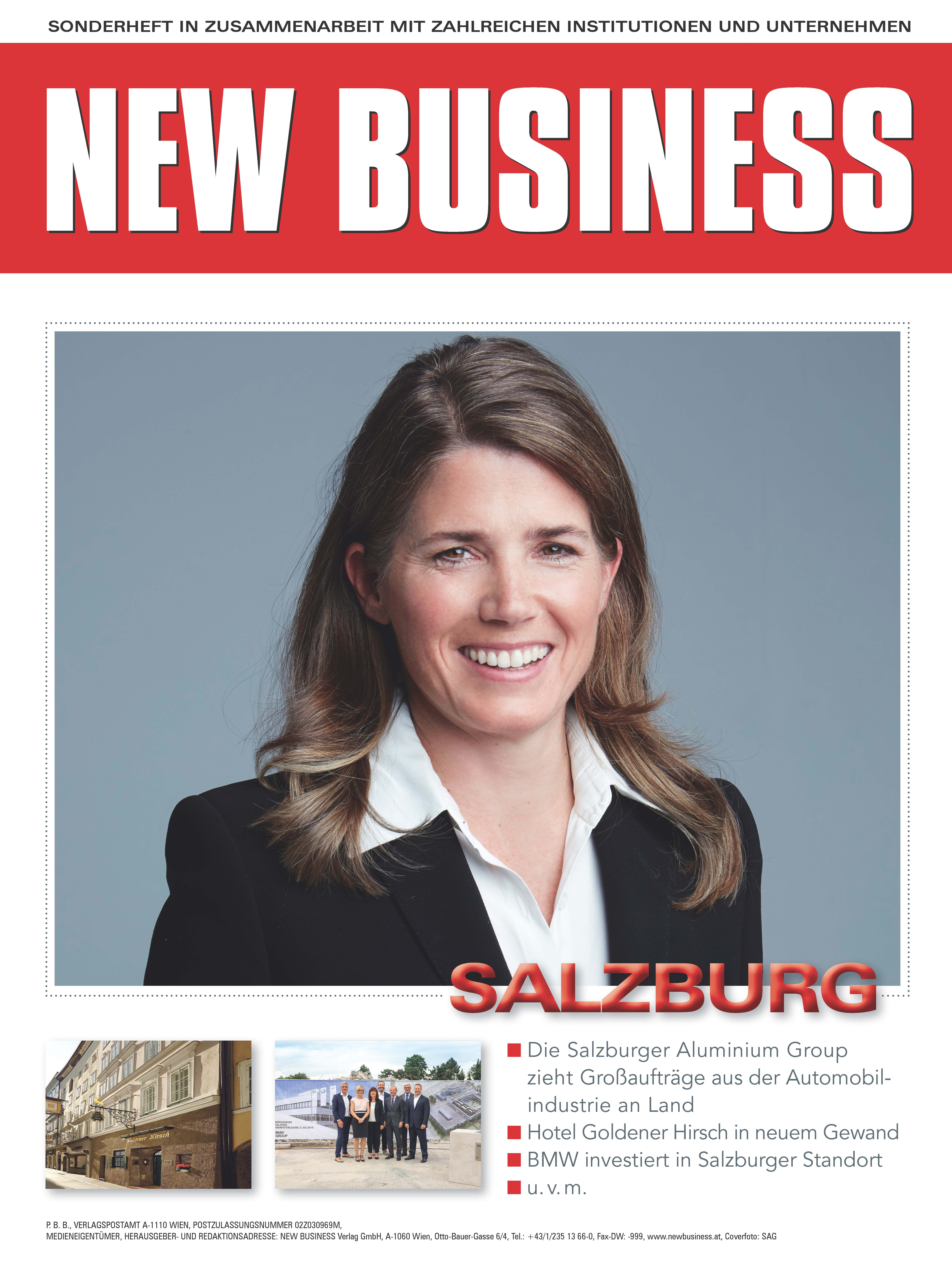 Cover: NEW BUSINESS Bundeslandspecial - SALZBURG 2019