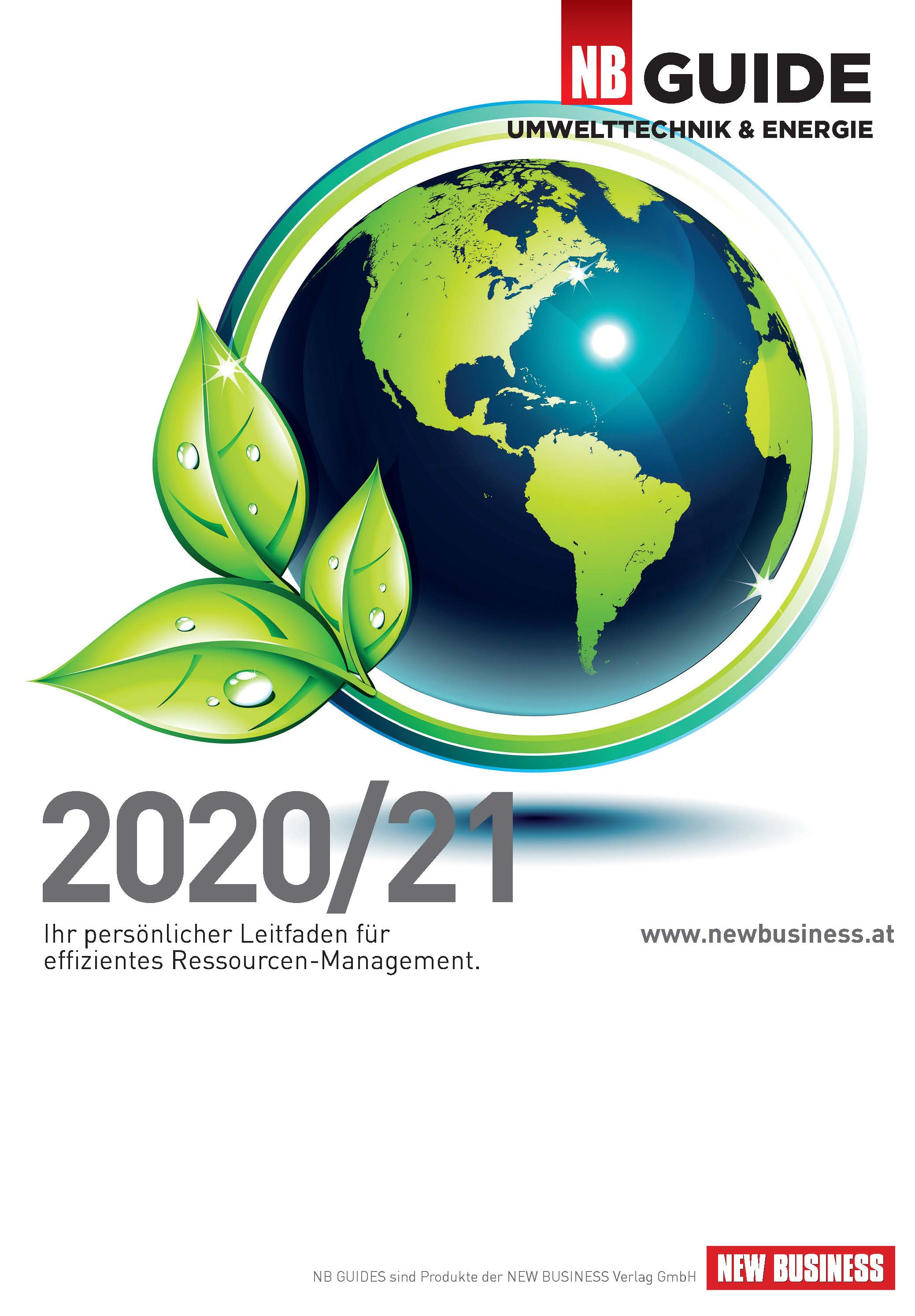 Cover: NEW BUSINESS Guides - UMWELTTECHNIK- & ENERGIE-GUIDE 2020/21